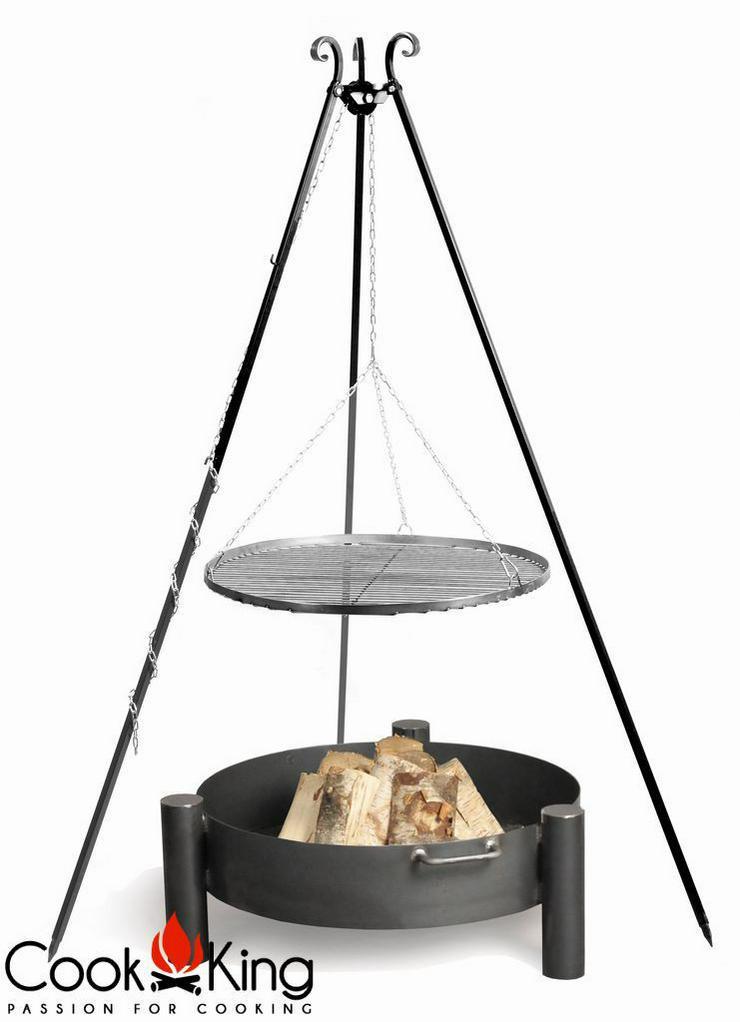 schwenkgrill mit feuerschale dreibein grillrost in dierdorf auf. Black Bedroom Furniture Sets. Home Design Ideas