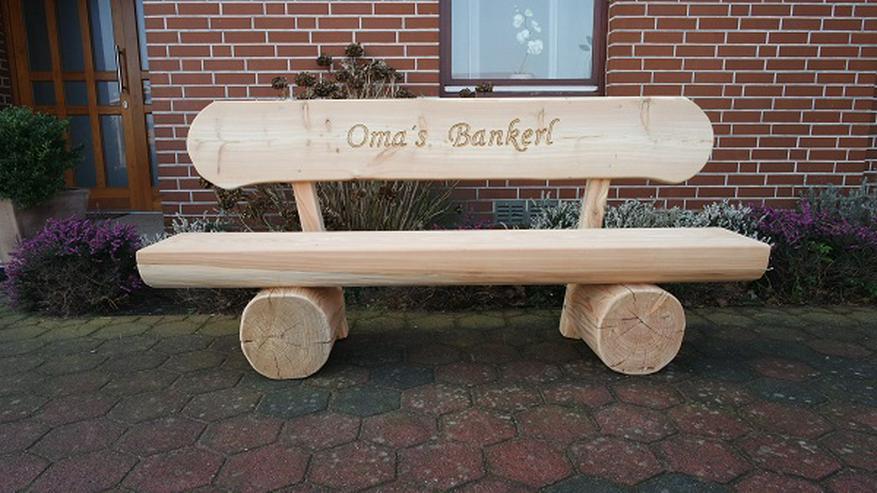 Bild 6: Holzbank mit Gravur.Hochzeitsbank.