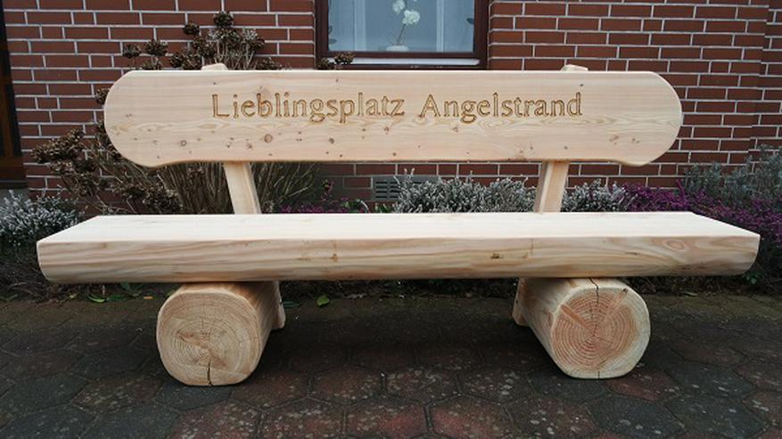 Bild 5: Holzbank mit Gravur.Hochzeitsbank.