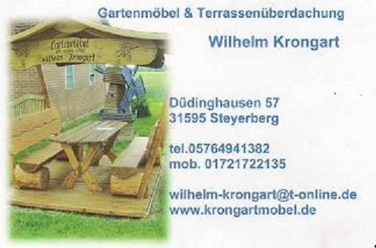 Bild 4: Gartenlaube Rosenholzbank.Holzbank.Gartenmöbel.