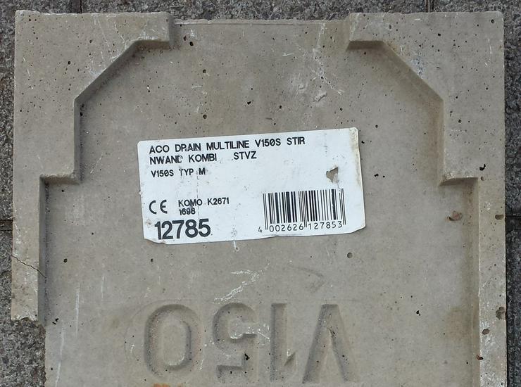 Bild 3: ACO DRAIN Kombistirnwand Multiline Rinnenanfan