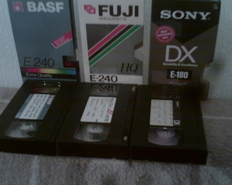 Bild 6: VHS-CASSETTEN