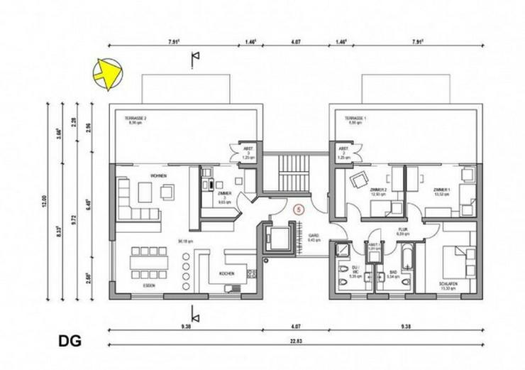 Bild 2: ***Moderner Neubau - geplante Penthousewohnung in bester Lage***