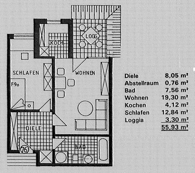 Bild 3: Schöne 2-Zimmerwohnung mit großer Dachterrasse in Tönisvorst