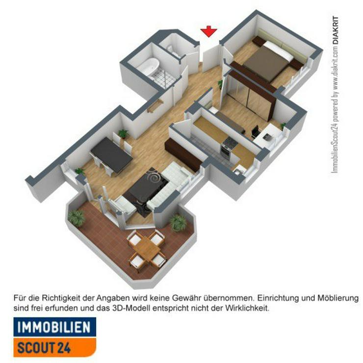 Exklusive & wunderschöne helle 3 Zimmer Wohnung mit Einbauküche - Wohnung mieten - Bild 1