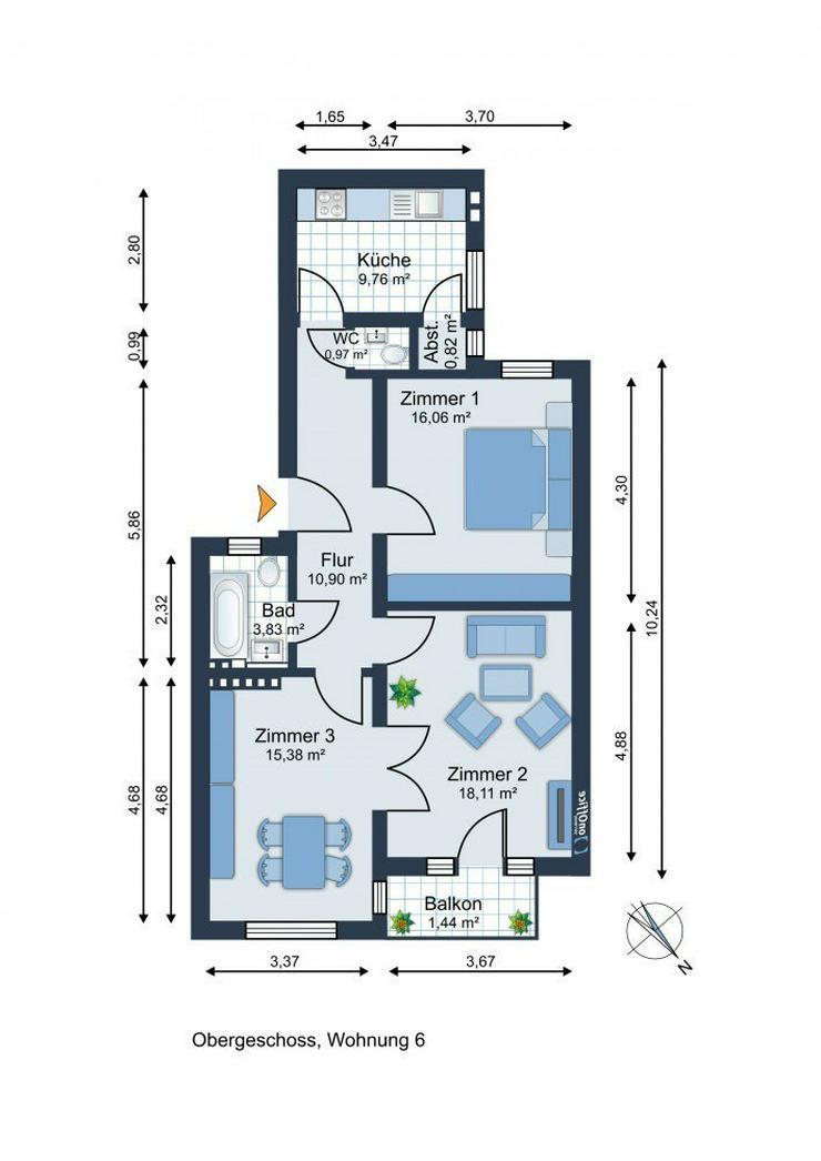 Bild 3: Kapitalanleger! Eimsbüttel! 3 Zimmer Wohnung im wunderschönen Jugendstil-Stadthaus in be...