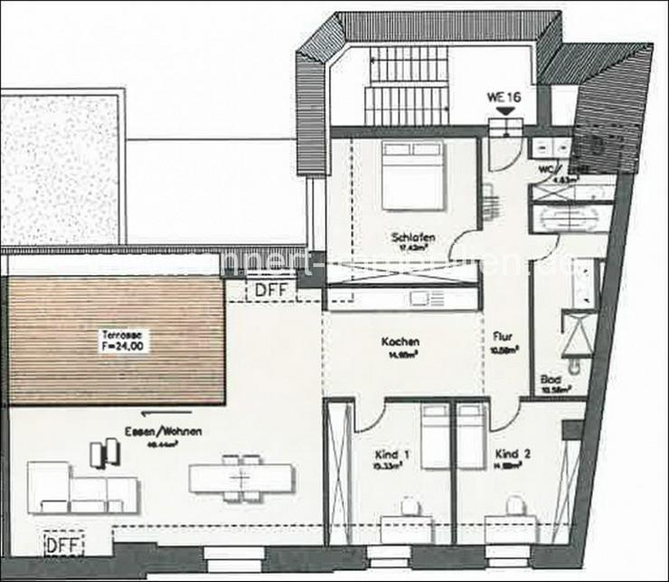 Bild 4: +++Dachgeschoss: Extravagante 4-Raumwohnung mit modernen Bädern und Dachterrasse in Stadt...