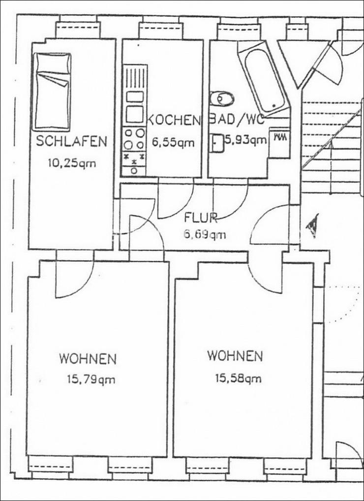 Bild 3: Plagwitz! 3 Zimmer im EG