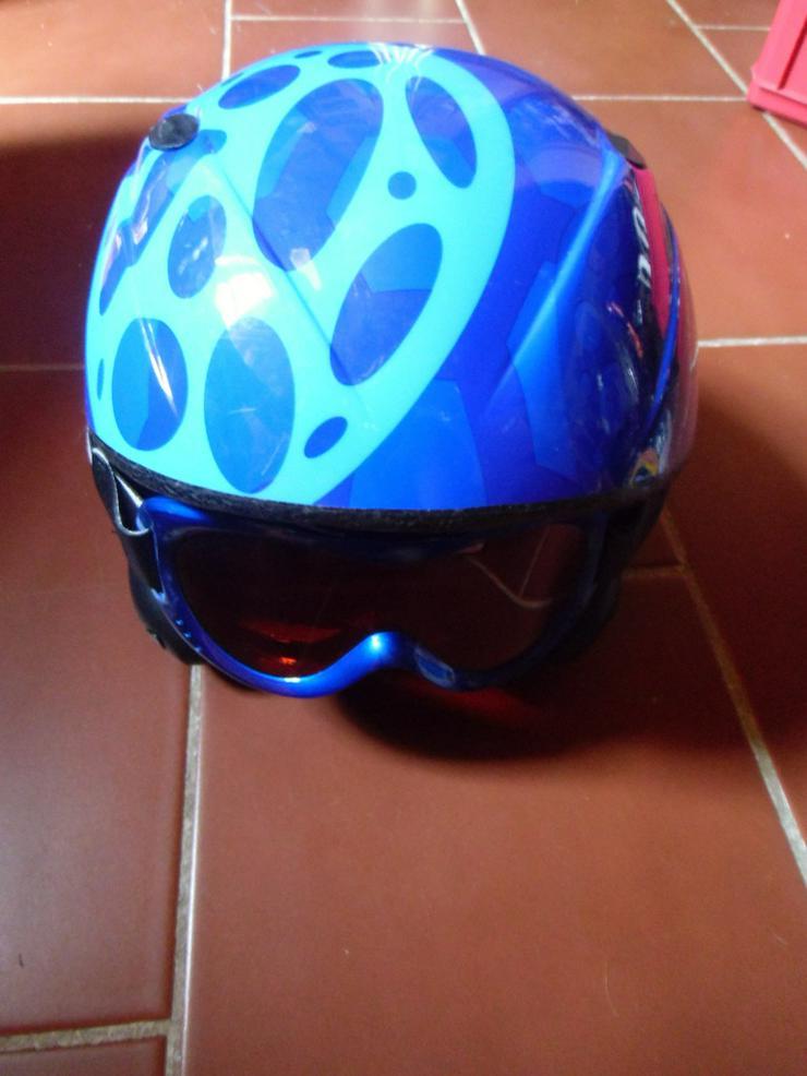 Kinder-Ski-/Snowboard-Helm samt Brille