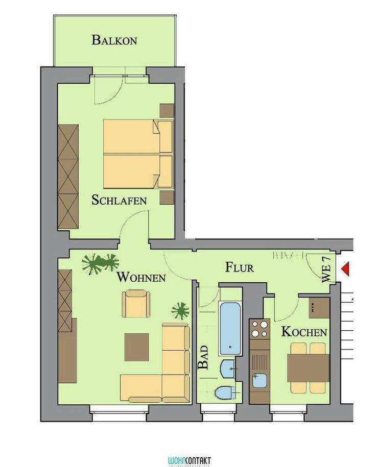 * Schöne 2-Raumwohnung in Zwenkau mit Balkon * - Wohnung mieten - Bild 1