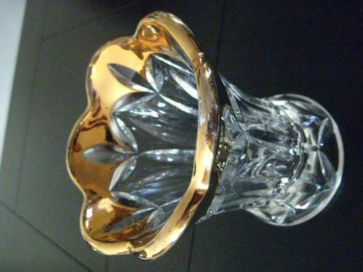 Glasvase Kristall Kristallvase vergoldete Öffng