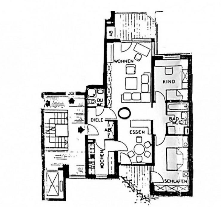Bild 9: Gundelfingen - Solide Kapitalanlage, 3,5 Zimmer, Aufzug, 2 Bäder, 2 Balkone - ruhige Lage