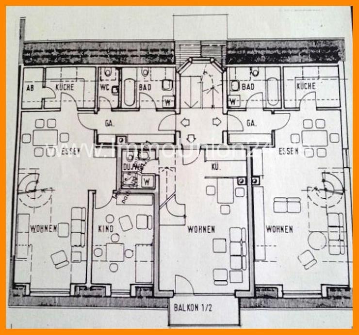 Bild 4: 7 8. 9 0 0,- für 2 Zimmer 5 7 qm MAISONETTE + herrlichen SONNEN- BALKON + Tiefgarage + SO...