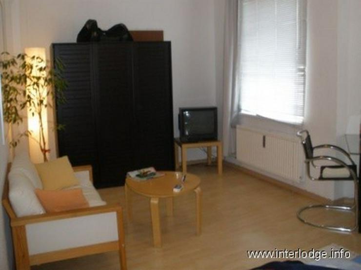 INTERLODGE Modern möbl. Apartment, Bochum-City, Wohn-/Schlafzimmer mit Schlafcouchen für... - Wohnen auf Zeit - Bild 1