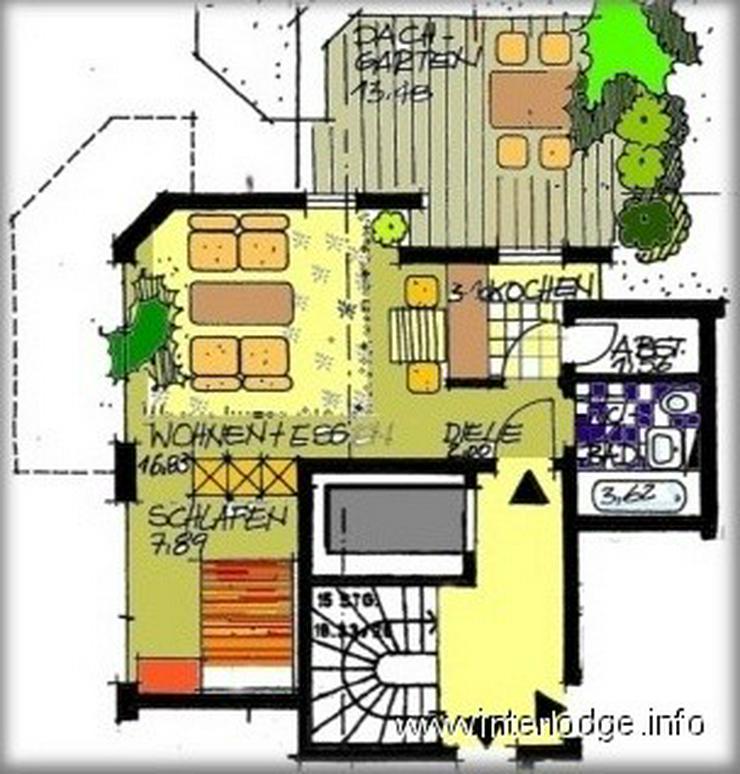 INTERLODGE Möbliertes Komfortapartment mit Dachterrasse und Aufzug für max.2 Personen in... - Wohnen auf Zeit - Bild 1
