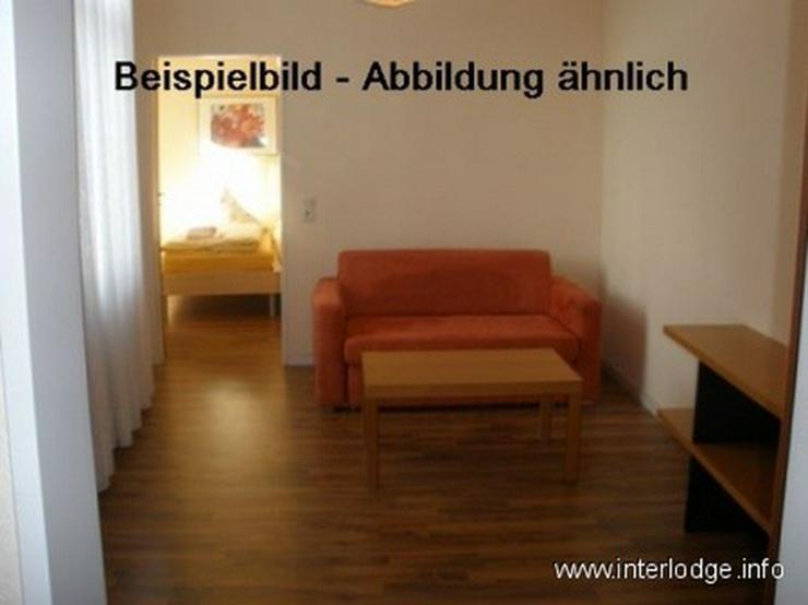 INTERLODGE Modern möbliertes Apartment, Bochum-City, Wohnschlafraum m. 2 Einzelbetten, of...