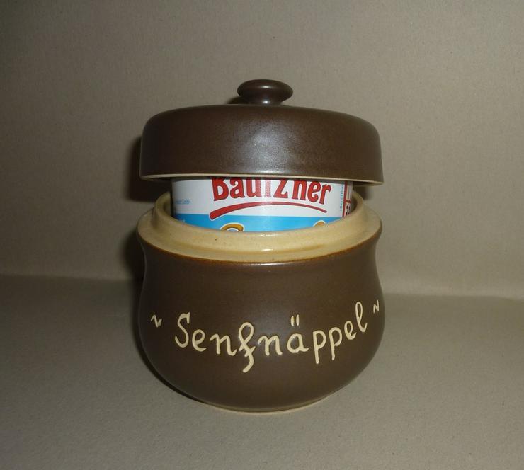 SenfTopf - Senfnäppel - incl. Bautzner Becher - Schalen & Schüsseln - Bild 1