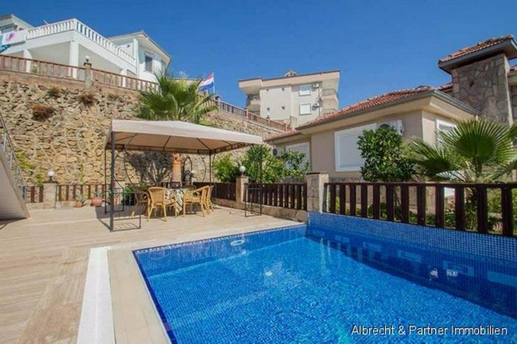 Bild 4: Traumhaus in Alanya mit einem herrlichen Ausblick auf das Mittelmeer in Kargicak - Alanya