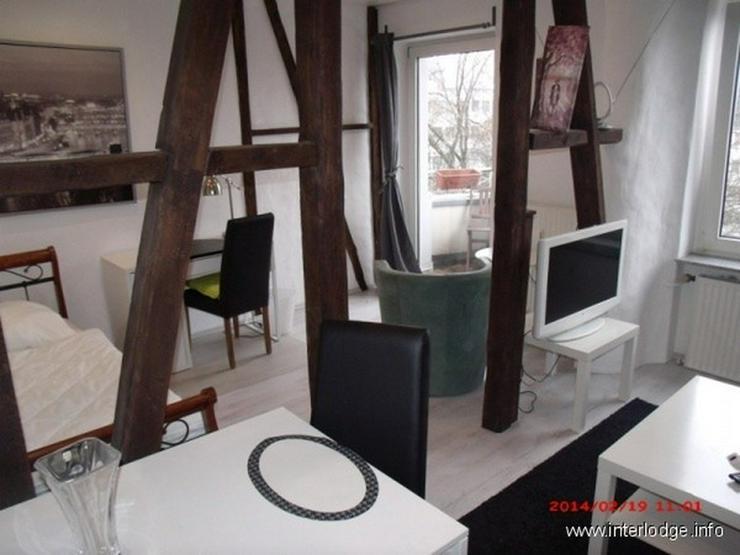 Bild 2: INTERLODGE Essen-Innenstadt: Komplett möbliertes City-Apartment mit Balkon.
