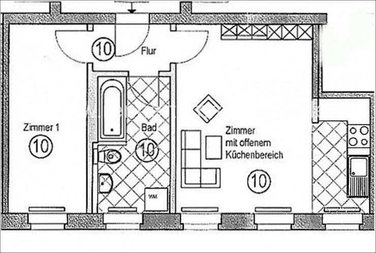 Bild 7: ++ MODERNE 2-RAUMWOHNUNG IN RUHIGER LAGE ++