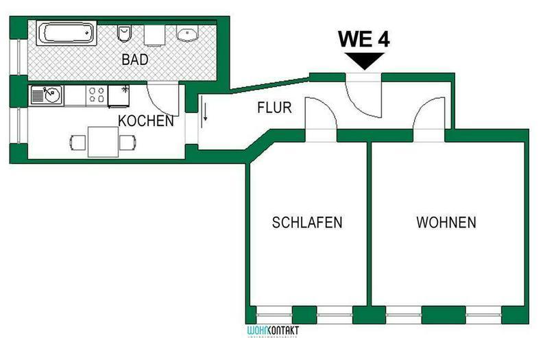 Bild 2: * Attraktiv Wohnen Im Herzen von Markkleeberg * großzügige 2-Raumwohnung im Erdgeschoss