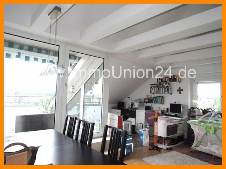 Bild 2: 8 8 qm DACH- TERRASSEN Wohnung + panoramaverglastes Wohnzimmer + LAMINAT + GARAGE + SOFORT...