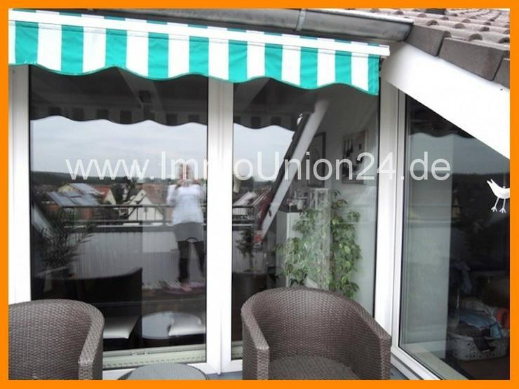 8 8 qm DACH- TERRASSEN Wohnung + panoramaverglastes Wohnzimmer + LAMINAT + GARAGE + SOFORT... - Wohnung kaufen - Bild 1