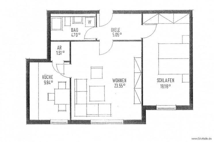 Bild 6: Anlage-Immobilie im Kröllwitz-Viertel: 2-Raum-ETW