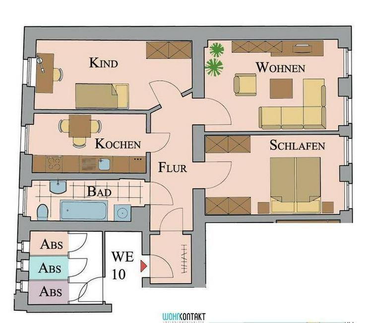 500,- EUR IKEA-Gutschein * Attraktiv Wohnen Im Herzen von Markkleeberg * großzügige 3-RW... - Wohnung mieten - Bild 1