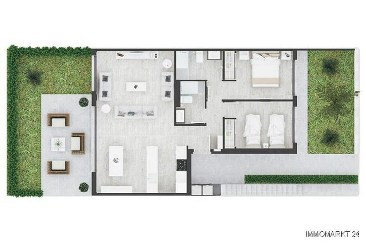 Bild 6: Komfortable Erdgeschoss-Wohnungen mit Gemeinschaftspool