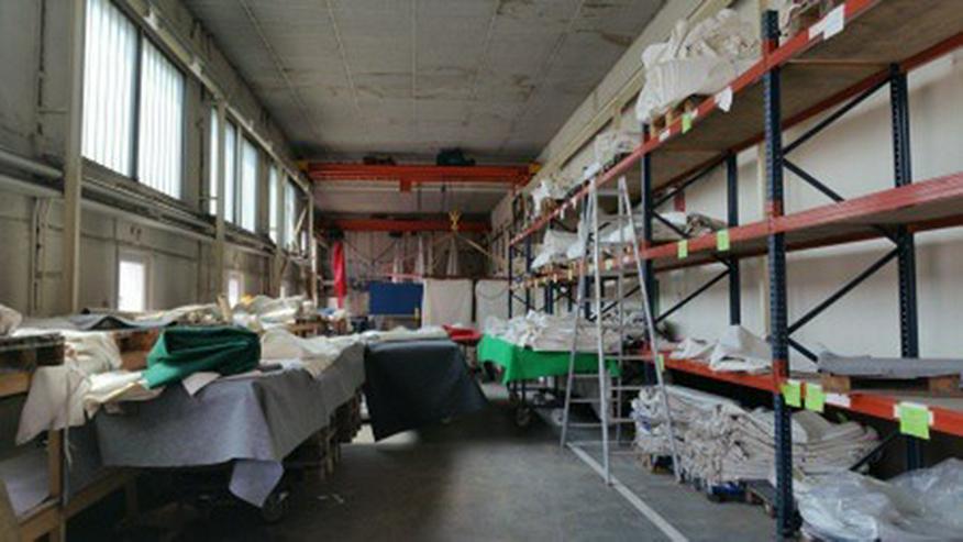 Gewerbehalle für Lager und Produktion mit großem Außengelände