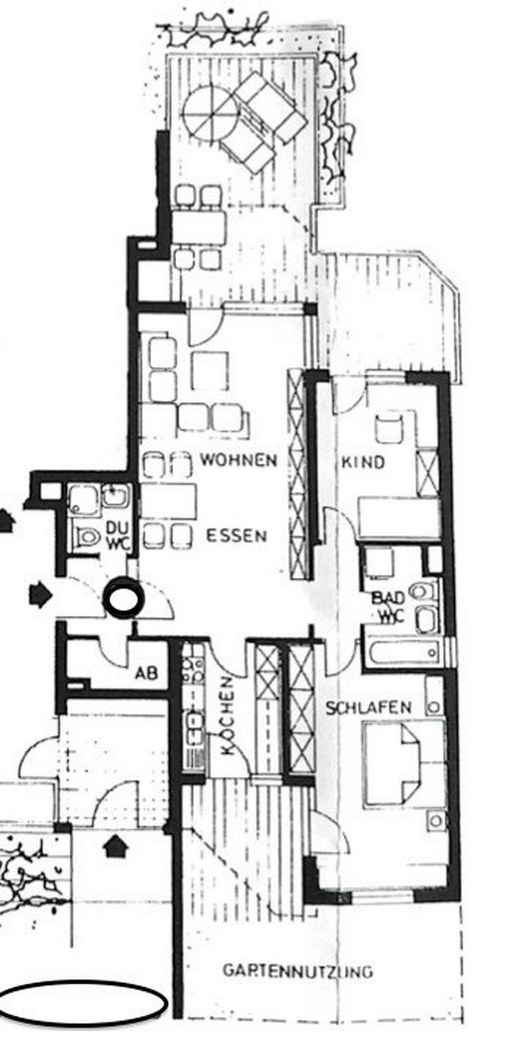 Bild 4: Gundelfingen - Solide Kapitalanlage, 3,5 Zimmer-EG-Wohnung mit 2 Bädern und 2 Balkonen