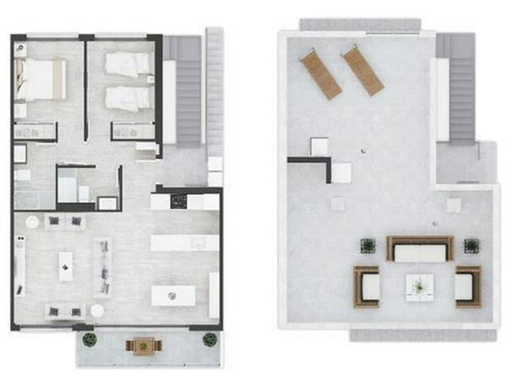 Bild 6: Komfortable Obergeschoss-Wohnungen mit Gemeinschaftspool