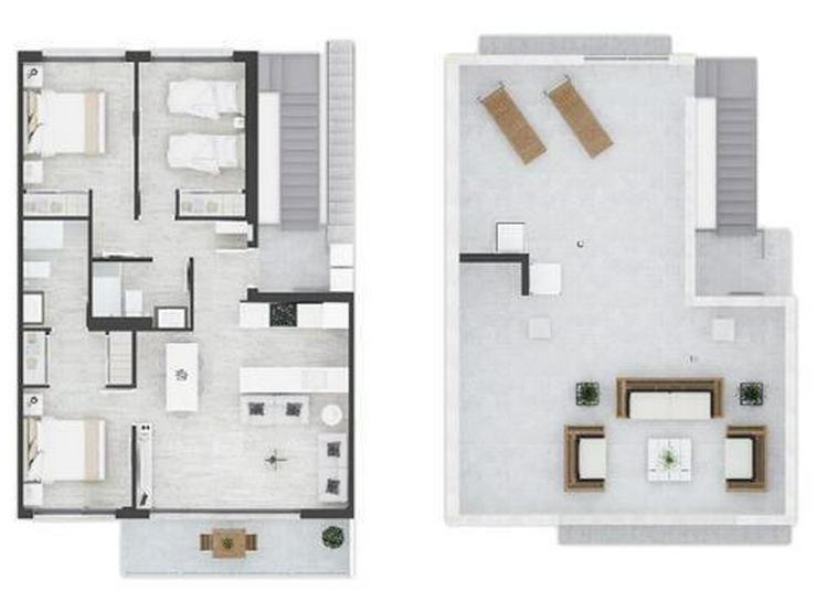 Bild 5: Komfortable Obergeschoss-Wohnungen mit Gemeinschaftspool