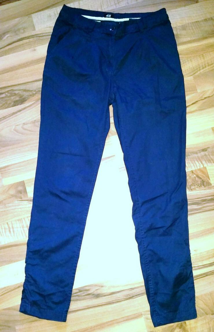 Blaue Chino Damen Hose in Größe 36