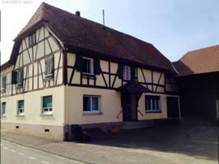 Bild 2: Bauernhaus im Dorfkern mit Nebengebäude u. Umschwung im Elsass - 18 km v/Basel 20 km v/We...