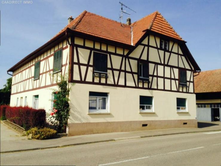 Bauernhaus im Dorfkern mit Nebengebäude u. Umschwung im Elsass - 18 km v/Basel 20 km v/We... - Haus kaufen - Bild 1