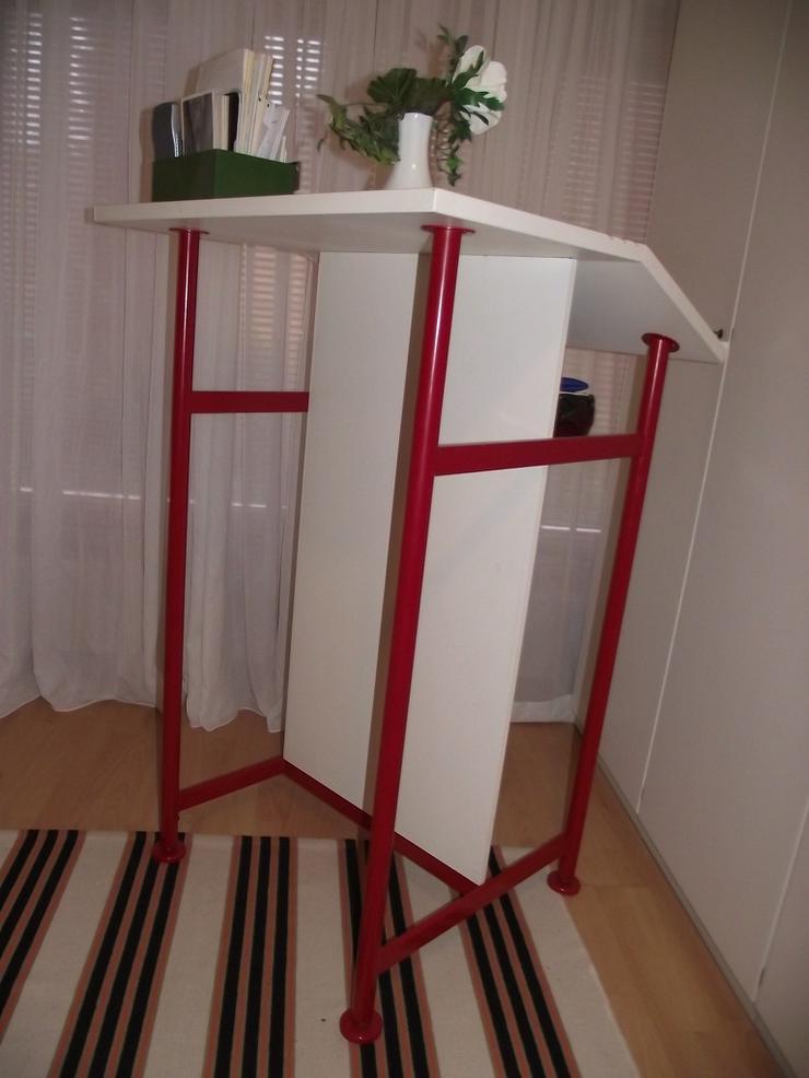 Bild 4: Stehpult Schreibpult  in weiß mit Ablagefach