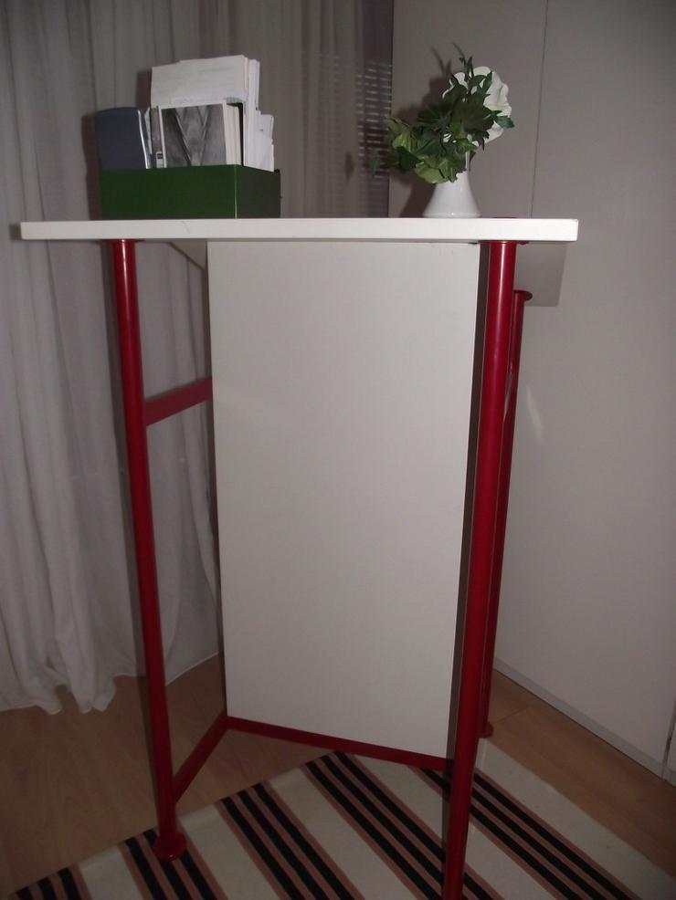 Bild 5: Stehpult Schreibpult  in weiß mit Ablagefach