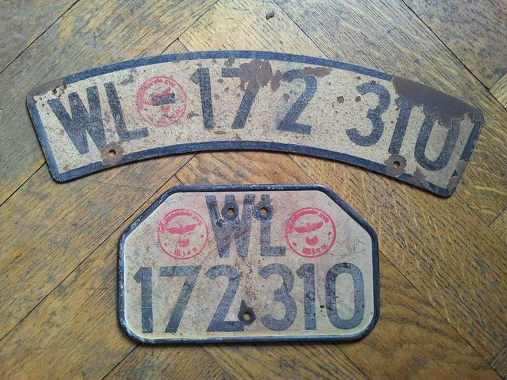 Bild 4: Sammler sucht Autokennzeichen vor 1945 schwarz