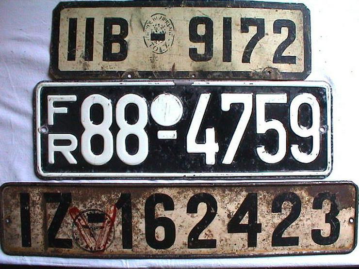 Sammler sucht Autokennzeichen vor 1945 schwarz