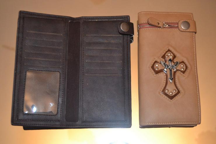 Bild 4: Brieftasche echt Leder Strausenleder