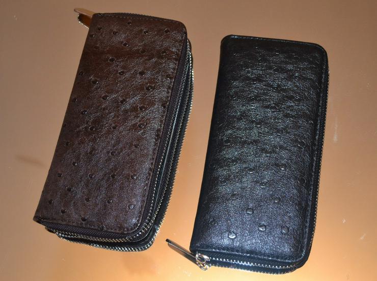 Brieftasche echt Leder Strausenleder