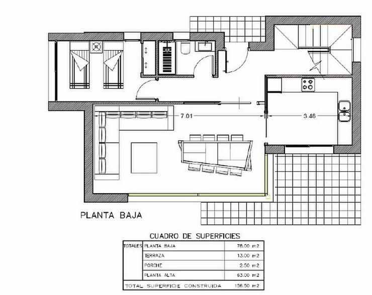 Bild 8: **Lebe deinen Traum** GRUNDSTUECK IN SAN JOAN, z.B. 143,5 m² Einfamilienhaus mit Pool