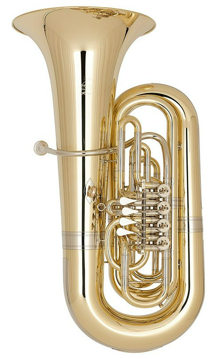 Miraphone 496 Hagen 5/4 B Tuba aus Goldmessing - Blasinstrumente - Bild 1