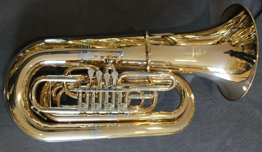 Bild 2: Miraphone 496 Hagen 5/4 B Tuba aus Goldmessing