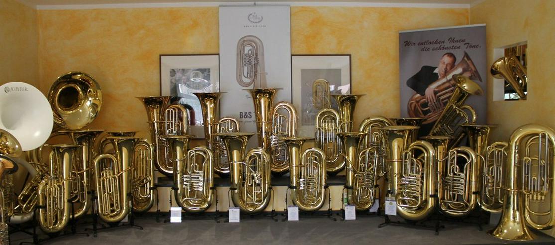 Bild 5: Miraphone 496 Hagen 5/4 B Tuba aus Goldmessing