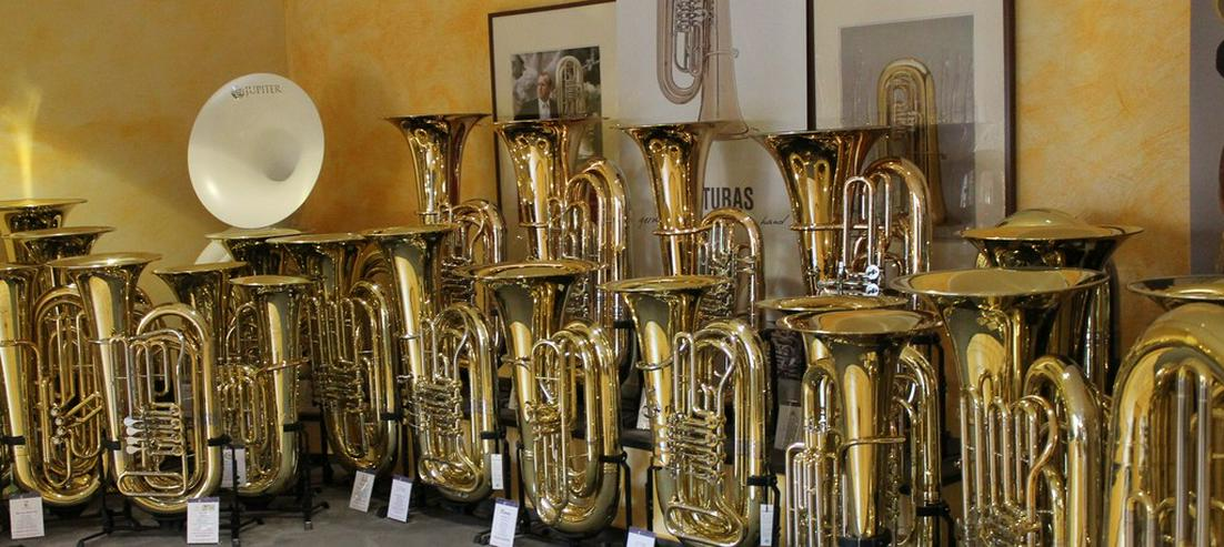 Bild 6: Miraphone 496 Hagen 5/4 B Tuba aus Goldmessing