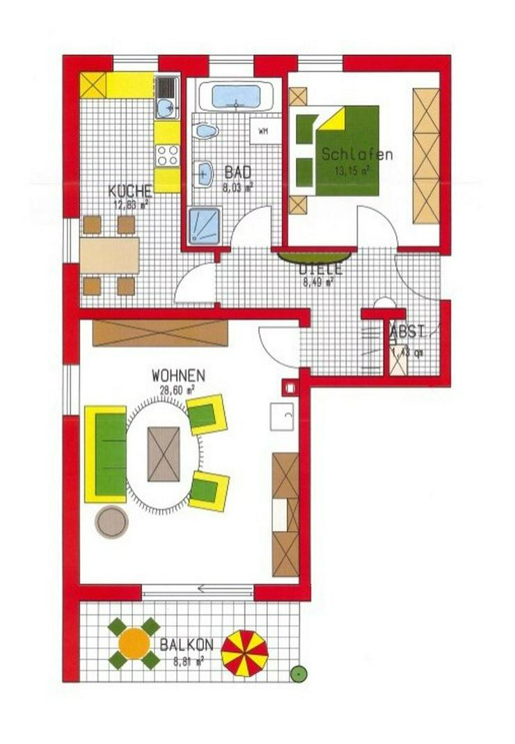 Bild 12: Schicke 2 bzw. 2,5 Zimmer-Wohnung m. Balkon - Stellplatz, zentrumsnah in Passau zu vermiet...