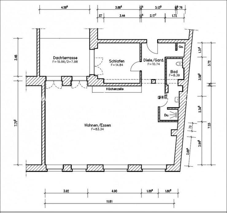 Bild 3: +++Große, moderne Loftwohnung mit EBK und Balkon nähe Innenstadt+++